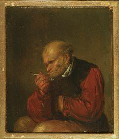 Egbert van Heemskerck - Old Man Smoking a Pipe. N.d., late 17th century