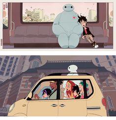 Mais artes do filme Big Hero 6, da Disney   THECAB - The Concept Art Blog
