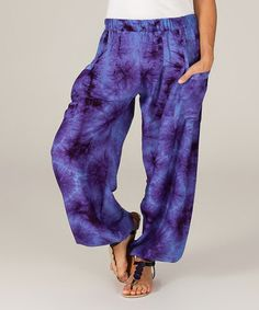Look at this #zulilyfind! Purple Tie-Dye Soft Pants - Women #zulilyfinds