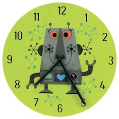 robot clock by Amazon