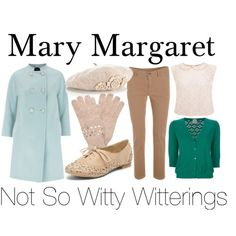 Mary Margaret, Once upon a time tan skinnies blue coat white oxfords-- i want this jacket SO BADLY