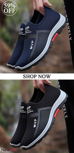 437bf731c678c4 Men Mesh Breathable Outdoor Slip Resistant Slip On Sneakers is fashionable  and cheap
