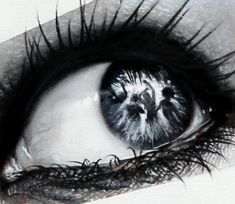 Jakarta-based Indonesian artist Veri Apriyatno's series titled The Witnesses reveals a lot more about a person's surroundings through the reflection of their eyes. Each hyperrealistic mixed media creation in the series (made with charcoal, pencil, and acrylics on canvas) presents an entire world within the gaze of a glistening eye.