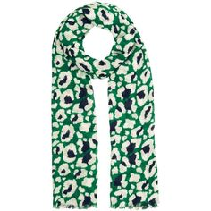 Whistles Floral Leopard Print Scarf ($68) ❤ liked on Polyvore featuring accessories, scarves, tie scarves, floral print scarves, floral scarves, lightweight scarves and viscose scarves