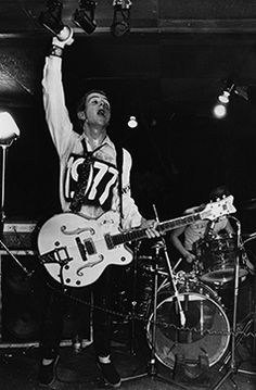 Joe Strummer, 1977. Photograph by Ray Stevenson/Rex USA #punkfashion
