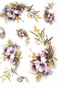 Rice Paper for Decoupage Scrapbooking Sheet Craft Vintage Garden Flowers 1/2 | eBay