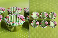 Spring Cupcakes Cupcake Art, Cupcake Cookies, Cupcake Toppers, Cupcake Ideas, Garden Cupcakes, Spring Cupcakes, Gula, Fondant Cupcakes, Little Cakes