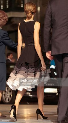 Queen Letizia of Spain attends the Princess of Asturias (Princesa de Asturias) Awards 2015 at the Campoamor Theater on October 23, 2015 in Oviedo, Spain.  (Photo by Europa Press/Europa Press via Getty Images)