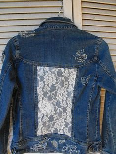 DIY jean jackets with lace on back - Google Search