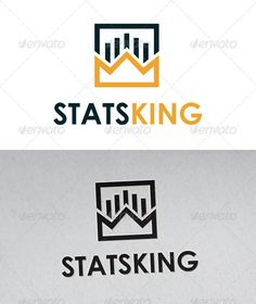 Stats King Logo #GraphicRiver - Three color version: color, greyscale and single color. - The logo is 100% resizable. - You can change text and colors very easy using the named and organized layers that includes the file. - The typography used is Century Gothic a system default font. Created: 11July12 GraphicsFilesIncluded: VectorEPS #AIIllustrator Layered: Yes MinimumAdobeCSVersion: CS4 Resolution: Resizable Tags: accountants #agency #analysis #analytics #bars #brand #business ...