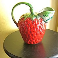 Vintage Juicy Strawberry Pitcher
