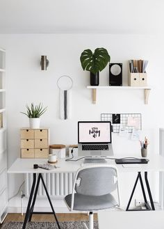 Welcome To My Workspace | The Lovely Drawer | Bloglovin' //home office, clean modern office, office inspiration, minimalistic, minimalism