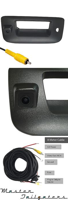 Rear View Monitors Cams and Kits: Chevrolet Gmc Silverado Sierra Black Tailgate Handle Backup Camera 2007-2013 -> BUY IT NOW ONLY: $107.1 on eBay!