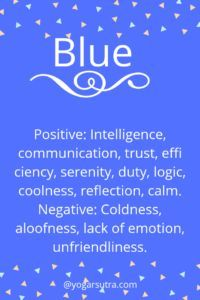 #Color Psychology. Blue- Positive: Intelligence, communication, trust, efficiency, serenity, duty, logic, coolness, reflection, calm. Negative: Coldness, aloofness, lack of emotion, unfriendliness. Color Psychology Test, Psychology Meaning, Psychology Studies, Psychology Quotes, Psychology Experiments, Personality Psychology, Psychology Careers, Behavioral Psychology, Educational Psychology