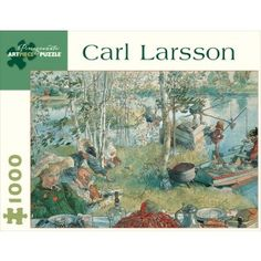 """Artist: Carl Larsson (""""Crayfishing"""" - Watercolor on paper, c.1895) An artist born into poverty, and found success in commercial illustration, Larsson found little success in fine art until he met his wife. She pushed him to explore a new style and medium, moving into bright watercolor paintings. When the couple was given a small country cottage, the artist found vibrant inspiration and produced many works in tribute to the idyllic country life. Crayfishing is one of these pieces, from a…"""