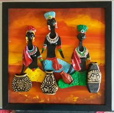 Discover thousands of images about Stretch Doll Painting, Mural Painting, Ceramic Painting, Ceramic Art, Clay Wall Art, Mural Wall Art, Murals, African Art Paintings, Clay Art Projects