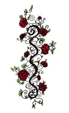 Rose Vines Drawings 1000 Ideas About Vine Tattoos On Pinterest