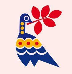 By Lotta Kühlhorn / Source : agentbauer Pattern Illustration, Graphic Design Illustration, Scandinavian Folk Art, Indian Folk Art, Motif Floral, Fabric Painting, Bird Art, Illustrators, Graphic Art