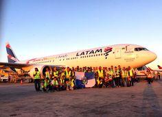 Vídeo: Boeing 767 da LATAM partiu em busca da tocha olímpica