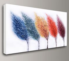 multi color abstract art Acrylic painting original large canvas wall art home office decor modern palette knife Visi made to order custom X by baronvisi on Etsy https://www.etsy.com/listing/210443345/multi-color-abstract-art-acrylic