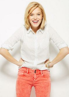 Button-Down Polka Dot Shirt - Tops - Clothing - dELiA*s