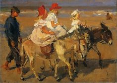 Isaac Israëls (Dutch Painter, 1865-1934)  Donkey Riding. Courtesy: Barbara Wells Sarudy, (USA).