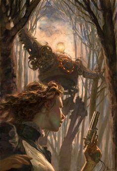 "Cover Illustration for ""Dreadnought"" by Cherie Priest - JON FOSTER STUDIOS"