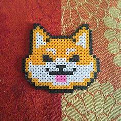 Shiba Inu dog perler beads by pixlheartz