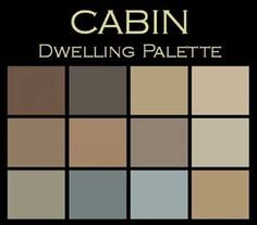 Color and Design:  I've never seen color palettes like this before.  Choose 5 and create the ambiance of a Cabin.