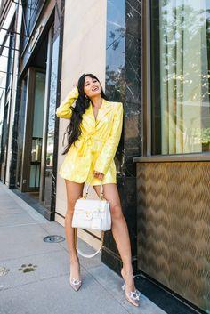 Sequin Blazer, Blazer Dress, Turning Thirty, What Would Jesus Do, Photography Tags, Say A Prayer, Yellow Blazer, Think Of Me, Petite Women