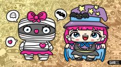 Mummy Girl and Kawaii Witch  - Chibi and Kawaii Characters by Garbi KW #...
