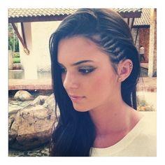 Kim Kardashian Kendall Jenner Rock Corn Rows (PHOTOS) ❤ liked on Polyvore