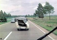 VW Transporter still driving after major damage...
