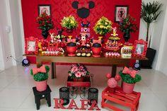 Aniversario_Rafa-24 Wild One Birthday Party, Mickey Birthday, Girl First Birthday, Baby Birthday, 1st Birthday Parties, Minie Mouse Party, Mickey Mouse Parties, Mickey Party, Mickey Mouse Clasico