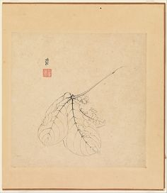 Chen Hongshou (Chinese, 1599–1652)  Period:Ming dynasty (1368–1644)  Date:one leaf dated 1619  Culture:China  Medium:Album of twelve paintings; ink on paper