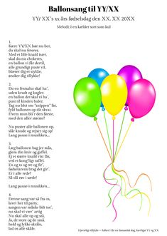 Ballonsangen til fødselaren Kind Of Text, Party Hacks, Party Ideas, Diy And Crafts, Paper Crafts, Funny Texts, Diy Gifts, Wise Words, Singing