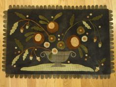 """""""Arrangement in a Pewter Dish"""", A Country Sampler Club Kit design by Maggie Bonanomi"""