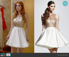 Walter Mendez Belle Dress worn by Paige Townsen (Bella Thorne) on Famous in Love Fashion Tv, Love Fashion, Girl Fashion, Fashion Outfits, Fashion Clothes, Pll Outfits, Fandom Outfits, Cute Dresses, Short Dresses