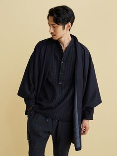 Japanese Haori Coats For The Modern Samurai Kimono Jacket, Kimono Top, Japan Fashion, Mens Fashion, Eccentric Style, Normcore, Menswear, Coat, Mens Tops