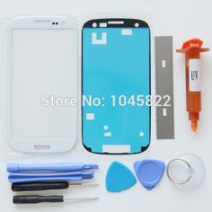 Replacement Kits For Samsung Galaxy S3 SIII I9300 I9305 LCD Front Touch Screen Glass Outer Lens 4.8'' +Tools+Blade+UV Glue LOCA