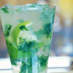 The Southside Cocktail is a specialty from New York's 21 Club, think of it as a gin mojito, gin, mint and a splash of club soda, cheers!