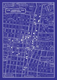 1949 Vintage Map of Downtown Los Angeles 11x17 by seashoreprints, $12.95
