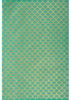 Green and Gold Scalloped Pattern - Easy and Inexpensive DIY Artwork