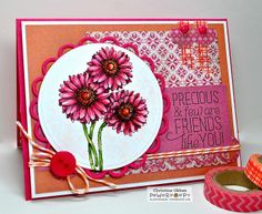 ChristineCreations: May Day Flowers, Gerbera Daisies Digital Stamp by Power Poppy!