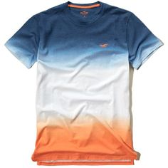 Hollister Wash Effects T-Shirt ($13) ❤ liked on Polyvore featuring men's fashion, men's clothing, men's shirts, men's t-shirts, orange, mens slim fit shirts, mens slim fit t shirts, mens crew neck t shirts, mens slim shirts and j crew mens shirts