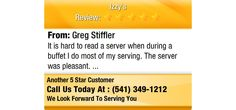 It is hard to read a server when during a buffet I do most of my serving.  The server was...