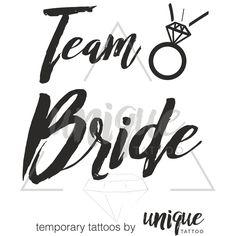 Team Bride, Bride, Heart, Diamond, Crown / Temporary Tattoos / Tatuaże zmywalne, idealne na wieczory panieńskie, zarówno dla przyszłej Panny Młodej, jak i uczestniczek Wieczoru!!!!