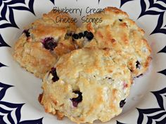 All That's Left Are The Crumbs: Blueberry Cream Cheese Scones