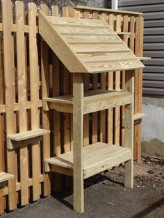feral cat feeding stations and steps so they can get in and out of the backyard
