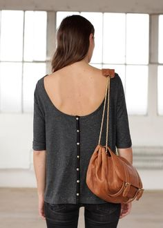 t-shirt with buttons -Sezane